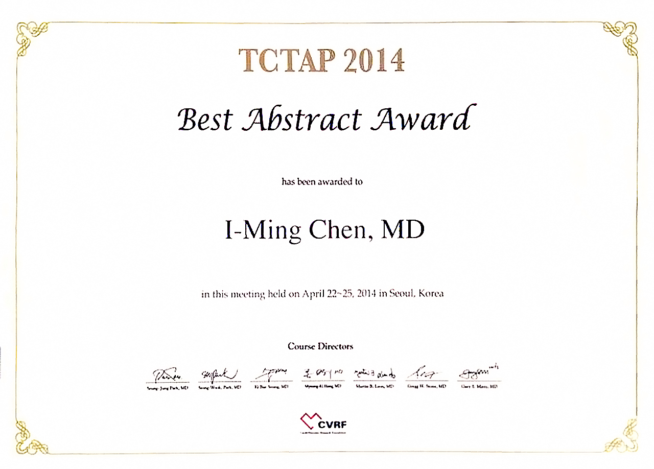 TCTAP2014_I-Ming_Chen_Best_Presenter_00